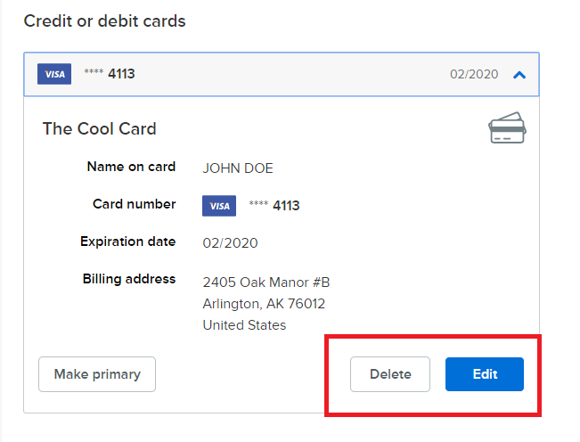 My Wallet - Add or Change Payment Information in Swim Portal